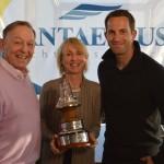 Sir Ben receiving the award from YJA chairman Bob Fisher and Lady Pippa Blake