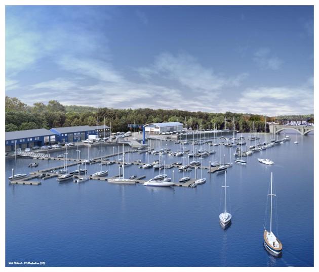 Deacons Boatyard new marina