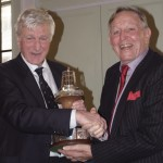 Rev. Bob Shepton, winner of the YJA Apollo Yachtsman of the Year, presented by Bob Fisher, Chaiman of the Yachting Journalists' Association