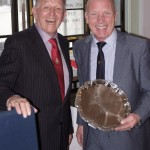 YJA Special Award winner Mike Golding with Yachting Journalists Association Chairman Bob Fisher