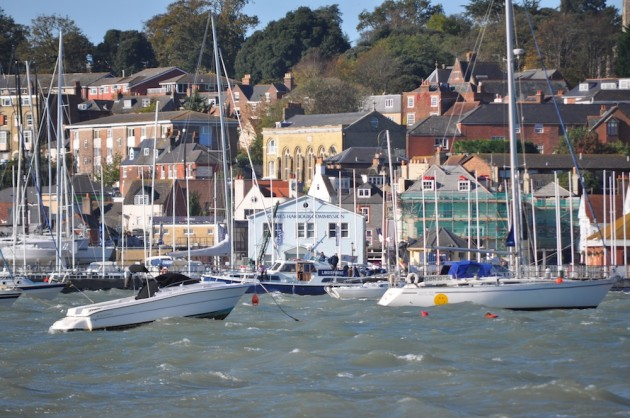 Cowes' choppy harbour