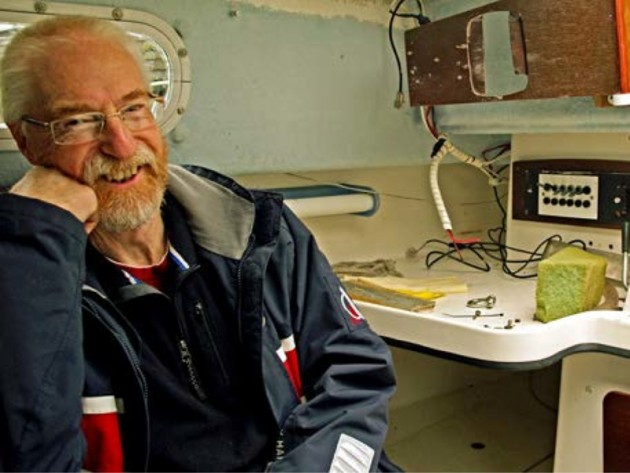 Colin Jarman, winner of the first worldwide Endurance Award by the Ocean Cruising Club
