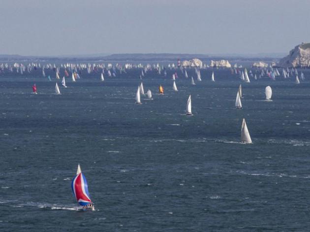 RTIR_In 2013, photographer Ian Roman captured the vast Round the Island Race fleet rounding of The Needles.jpg