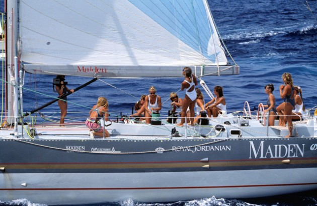 The Maiden yacht with Tracy Edwards and crew. Credit PPL