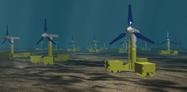 UK tidal array project artist's impression. Credit: The Crown Estate