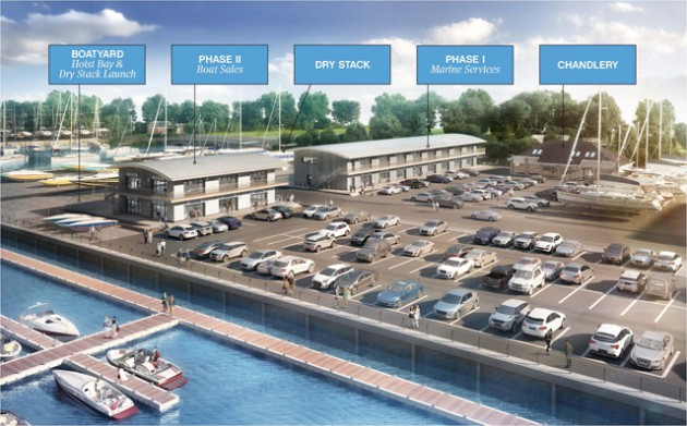 Swanwick Boatyard Development Notated CGI