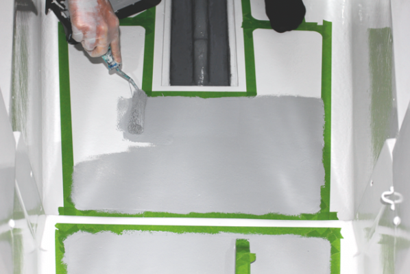 Deck paints on test practical boat owner for Boat non slip deck paint