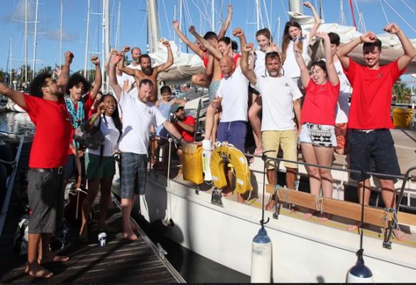 Team Tinia and the Brixham Sailing Club posse