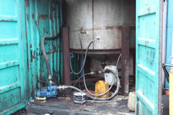 One of two diesel laundering plants, which have been dismantled by HM Revenue and Customs