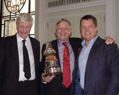 Nick Davis (right) with 2013 award winner Rev. Bob Shepton and Bob Fisher, Yachting Journalists' Association chairman.