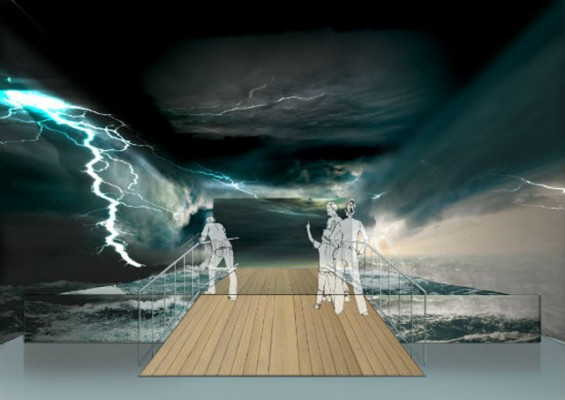 An artist's impression of the London Boat Show's storm tunnel