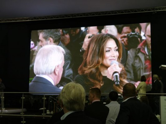 London Boat Show 2015-Nicole Scherzinger at the Sunseeker International stand