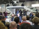 London Boat Show 2015-Nicole Scherzinger unveiling the Sunseeker Predator 57 at the Sunseeker International stand