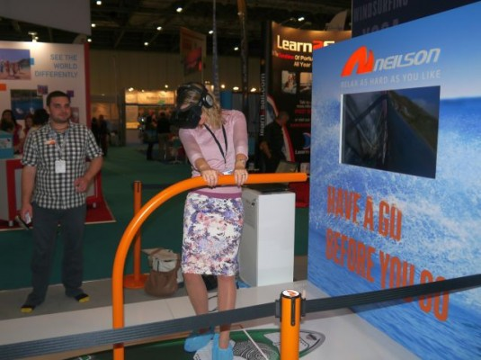 London Boat Show 2015-PBO's Laura Hodgetts on the Neilson windsurfing experience