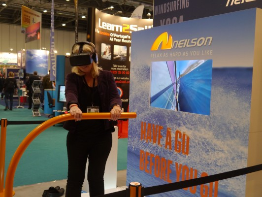 London Boat Show 2015-PBO's contributing editor Sarah Norbury on the Neilson windsurfing experience