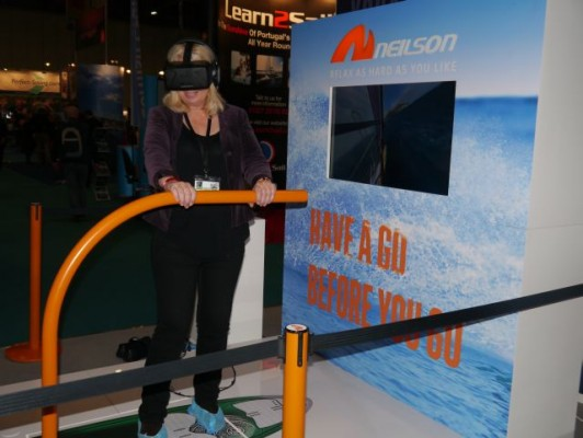 London Boat Show 2015-Sarah Norbury on the Neilson windsurfing experience