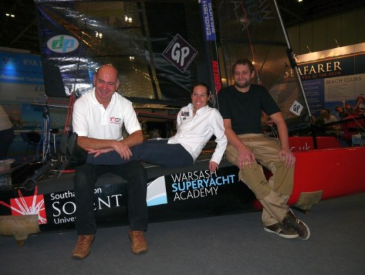 London Boat Show 2015-Solent Whisper designer Ron Price, Paralympian Helena Lucas and boatbuilder Tom White