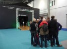 London Boat Show 2015-queuing for the 4D Experience