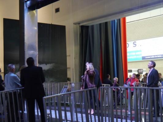 London Boat Show 2015-the rain curtain entrance