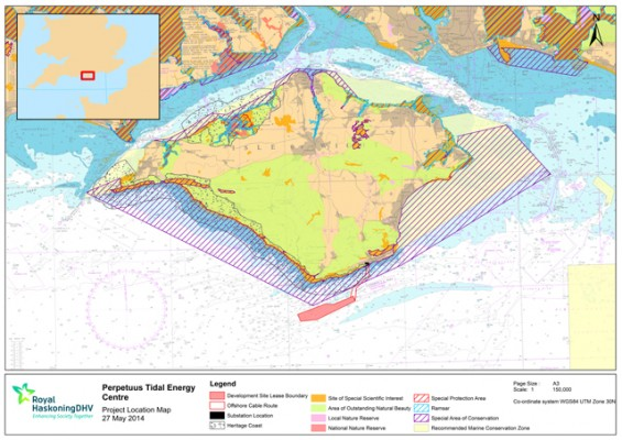 Perpetuus Tidal Energy Centre project location map