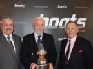 YJA Awards_Ian Atkins (President boats.com), Sir Robin Knox-Johnson (Winner Yachtsman of the Year), Bob Fisher (Chairman, YJA)