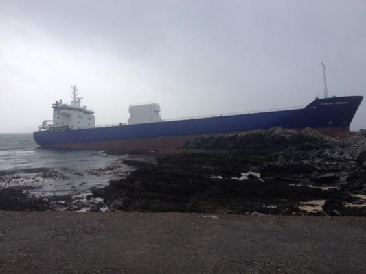 The stricken tanker. Credit: Iona Cameron MacLean