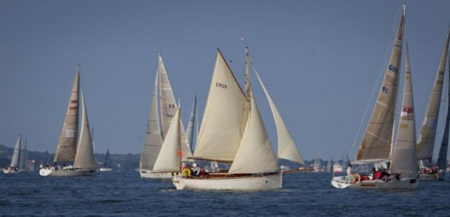 Boats making their way around the Island in the J.P. Morgan Asset Management Round the Island Race 2014. Photo- onEdition