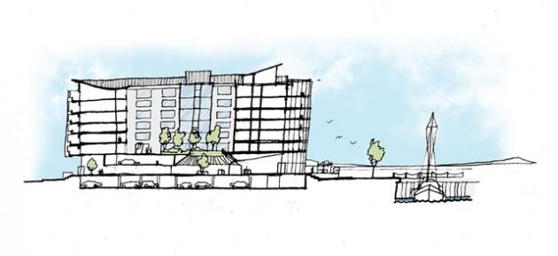 An artist's impression of the Edinburgh Marina development