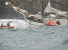The tall ship Astrid rescue operation in progress. Photograph courtesy of Provision Cork