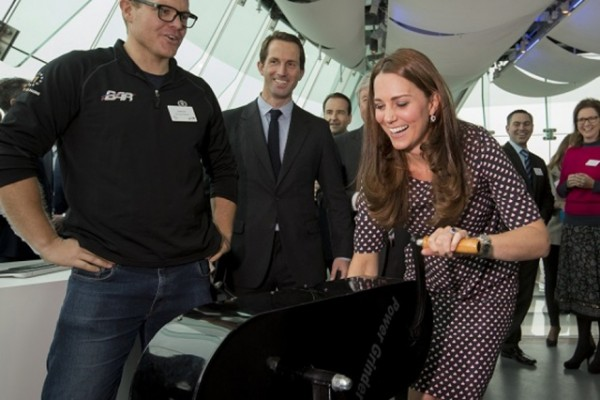 The Duchess of Cambridge tried out some of the BAR Visitor Centre exhibits in development_Credit Lloyd Images