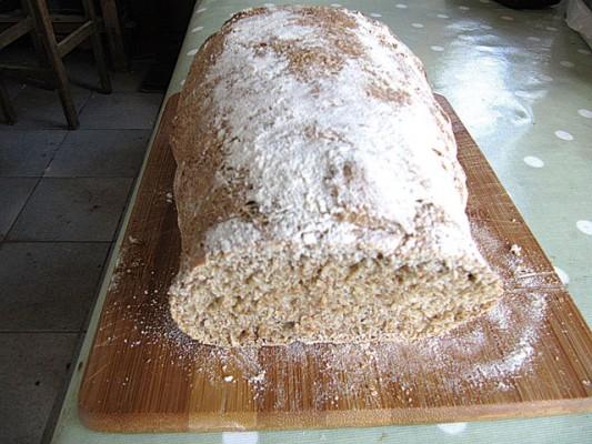 Baking bread on a boat