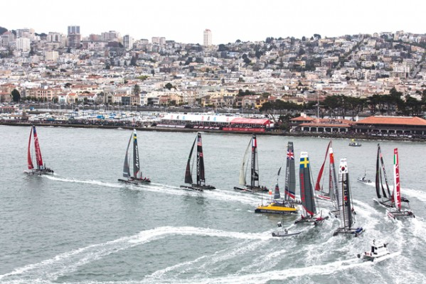 Racing at the America's Cup World Series in San Francisco
