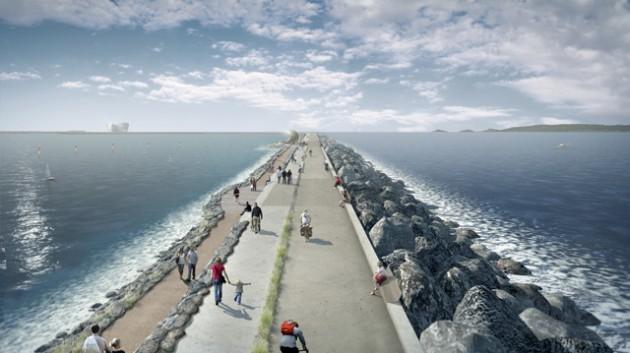 Swansea Bay Tidal Lagoon wall visual