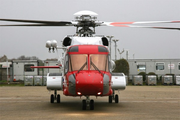 The launch of the civilian UK search and rescue (SAR) helicopter service