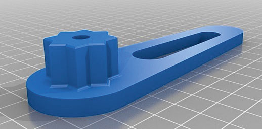 3d printed fuel cap wrench