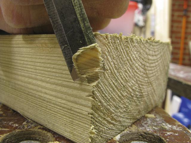 how to cut across the grain