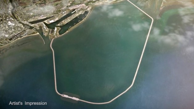 Swansea Bay Tidal Lagoon artist impression