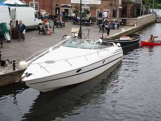 The boat at Wareham Quay in happier times