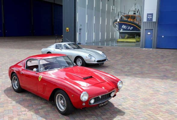 Two Ferraris are being auctioned by H&H Classics to raise funds for the Royal National Lifeboat Institution