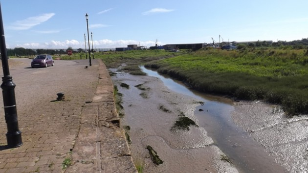 Annan Harbour before the dredging