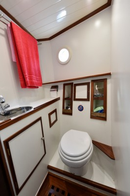 Tug Yacht 33 - The heads contains a shower which pulls out of the faucet