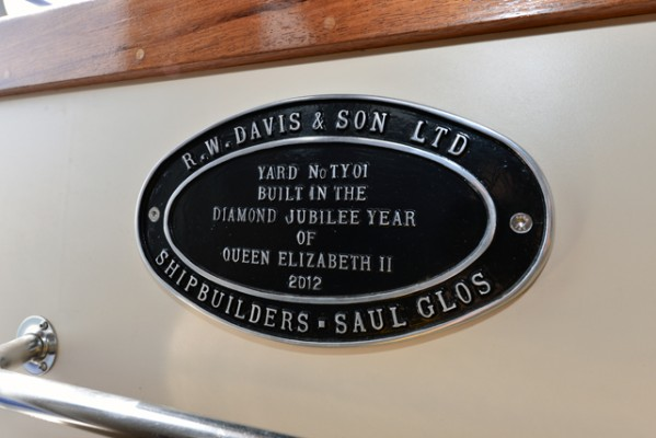 Tug Yacht 33 - a handsome plaque commemorates the Tug Yacht's manufacture