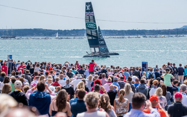 Crowds on 25 July 2015 at Portsmouth's America's Cup World Series event. Credit: Shaun Roster