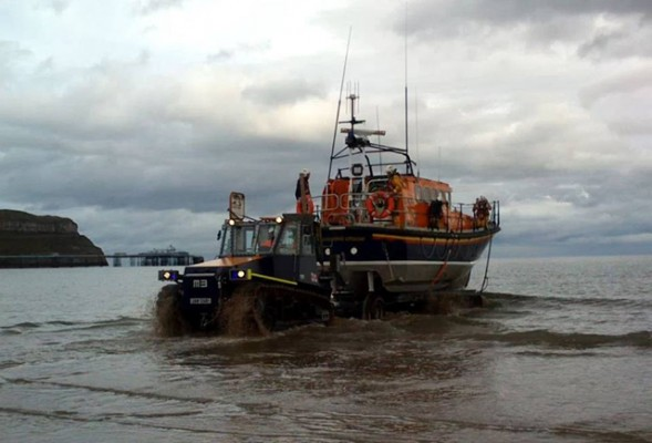 Llandudno RNLI lifeboat launches for the medevac operation