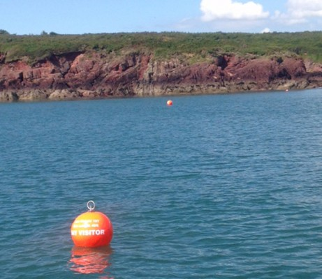 New day visitor moorings have been installed to protect seagrass in the Milford Haven Waterway