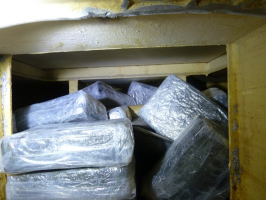 Cocaine found in a floor concealment in the yacht Golem that was intercepted off the Kent coast