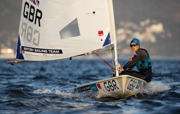 Laser Radial sailor Alison Young in action. Credit Ocean Images/British Sailing Team