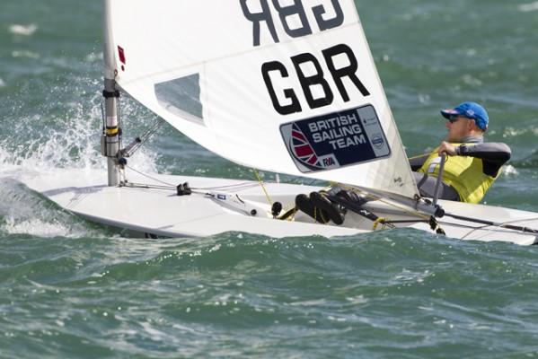 Laser sailor Nick Thompson. credit- Ocean Images/British Sailing Team