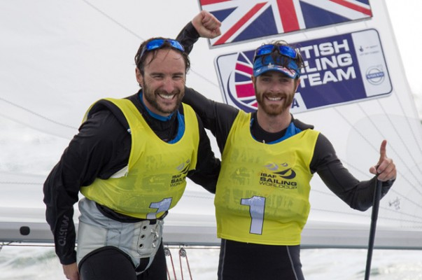 Men's 470 dinghy sailors Elliot Willis and Luke Patience. Credit Ocean Images/British Sailing Team