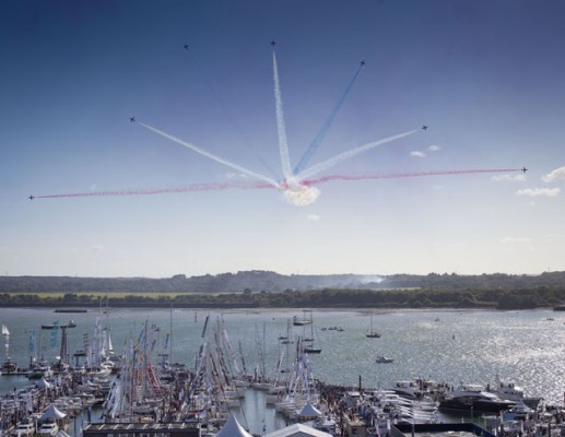 The Red Arrows at the Southampton Boat Show 2015. Credit: onEdition